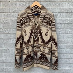 Ralph Lauren Aztec Print Sweater Jacket